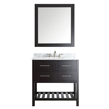 "Vinnova 732036-ES-CA Foligno Single Vanity Set with Mirror, 36"", Espresso"