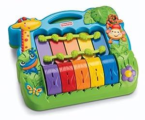 Mattel M2601-0 - Fisher-Price Newborn Rainforest Baby Piano mit Musik
