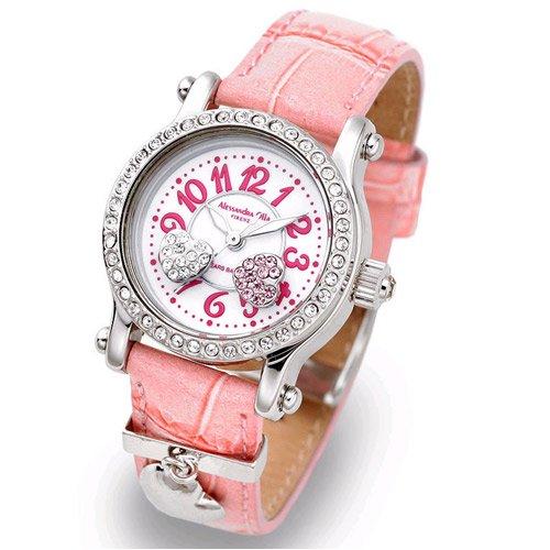 Alessandra Olla (アレサンドラオーラ) 腕時計 ムービングハート AO-4100-2-PK レディース