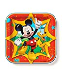 Mickey Mouse Clubhouse 7 in Square Plate, Pack of 8, Party Supplies