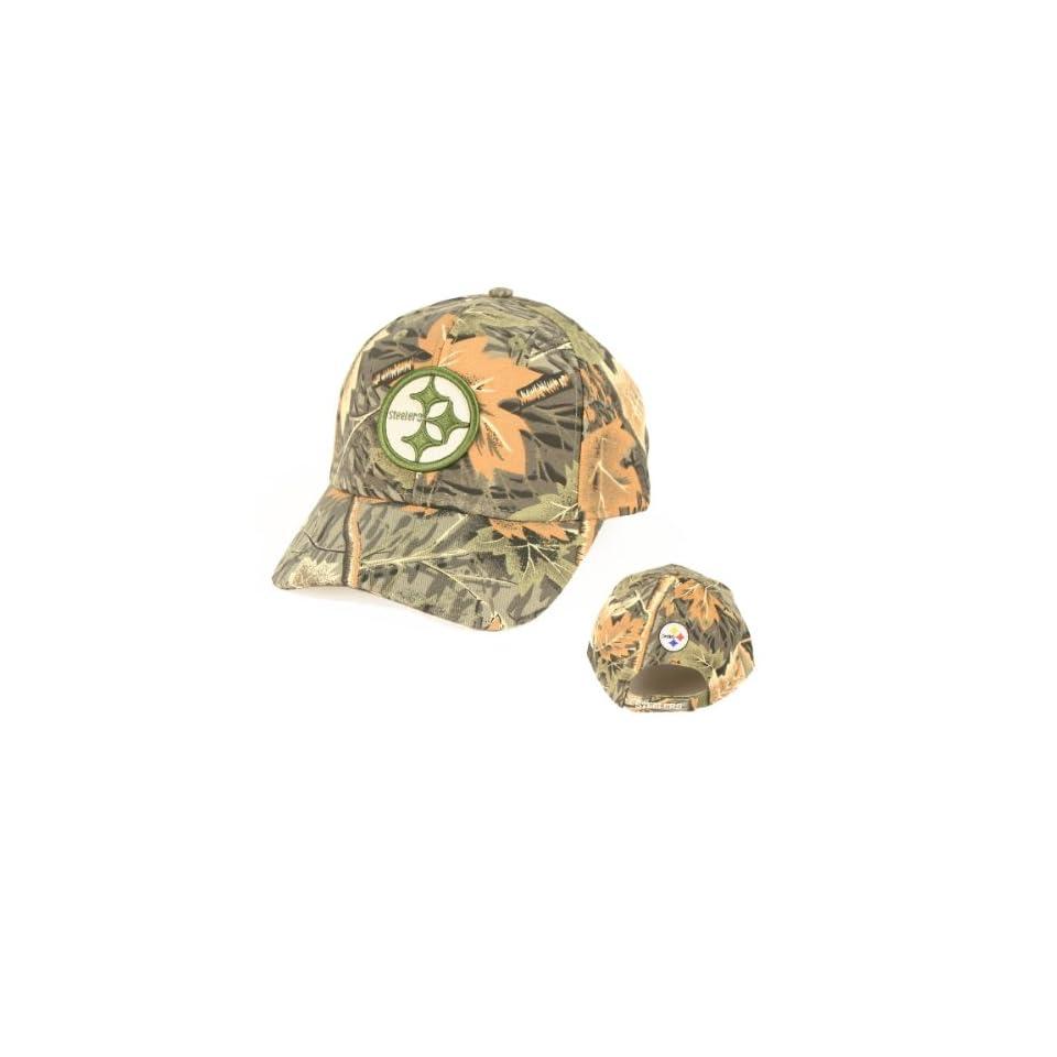 NFL Pittsburgh Steelers Camouflage Adjustable Baseball Hat Cap Lid