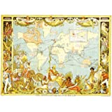 Imperial federation map of the world, by Walter Crane (V&A Custom Print)