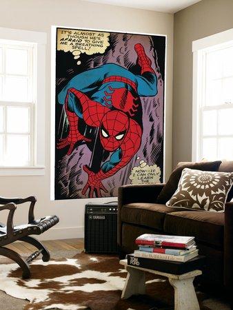Marvel Comics Retro: The Amazing Spider-Man Comic Panel, Crawling (aged) Giant Art Poster Print, 48x72