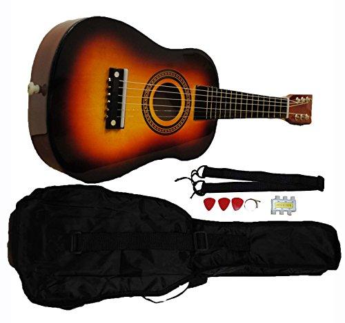 Mini-Kids-Acoustic-Toy-Guitar-Kit-Gig-Bag-Picks-Strap-Tuner