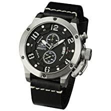 buy Flyback Chronograph Infantry Aviator Mens Sport Quartz Luxury Military Army Wrist Watch Geniune Leather Strap Black Lume Dial Waterproof 100M #Avx-001-S-L