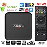 T95m 2GB RAM 8GB ROM WITH BLUETOOTH Android Box Competitor Of X96,MXQ Pro With FREE AV CABLE & 1 YEAR MANUFACTURER...