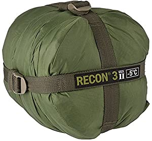 Elite Survival Systems Recon 3 Sleeping Bag, Olive Drab, Rated to 23 Degrees Fahrenheit, RECON3-OD