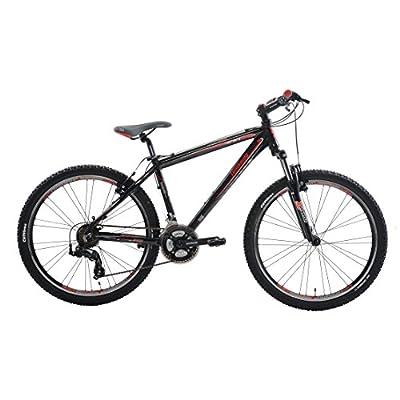 Lombardo Sestriere 300M Mountain Bike, 26 inch Wheels, Men's Bike, Red/Black, 99% Assembled, 17 inch Frame