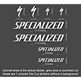 Specialized Road, Mountain, Downhill Bike sticker/decal laptop, helmet, bicycle, car (Matte Black) (Color: Matte Black)