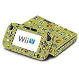 Cute Owl Green Pattern Decorative Decal Cover Skin for Nintendo Wii U Console and GamePad