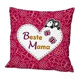 """Sheepworld 42552 Baumwollkissen """"Beste Mama der Welt"""""""