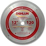 Oshlun SBNF-120120 12-Inch 120 Tooth TCG Saw Blade with 1-Inch Arbor for Aluminum and Non Ferrous Metals (Tamaño: 120 Tooth)