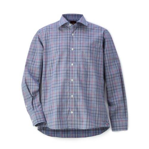 (タケオ キクチ)TAKEO KIKUCHI 100/2チェックシャツドレス ネイビー系(293) 01(S)