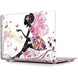 "Pretty ~Butterfly Girl Case (Get 3 MacBooK SAViOUR Accessories FREE) For New MacBook Pro 13 Inch 2016 Release A1706 / A1708 Hard Shell Cover , Matte Frost Hard Shell Protective Case Cover For Newest Apple MacBook Pro 13"" Inch A1706 / A1708 (2016 Laun"