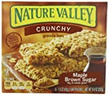Nature Valley Crunchy Granola Bars, Maple Brown Sugar, 12-Count Boxes (Pack of 6)