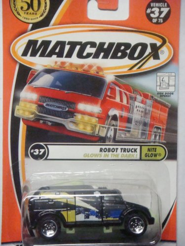 Matchbox Hero City Exclusive #37 Nite Glow Robot Truck {Opening Side Door} 50 Years Card Issue 1952-2002 Scale 1/64 Collector (Matchbox Cars Opening Doors compare prices)