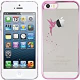 kwmobile Elegant and light weight Crystal Case Fairy design for Apple iPhone 5 / 5S in Hot Pink Transparent