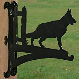 German Shepherd Hanging Basket Bracket