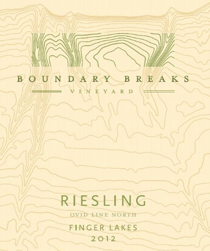 2012 Boundary Breaks Vineyard Ovid Line North Finger Lakes Riesling 750 Ml