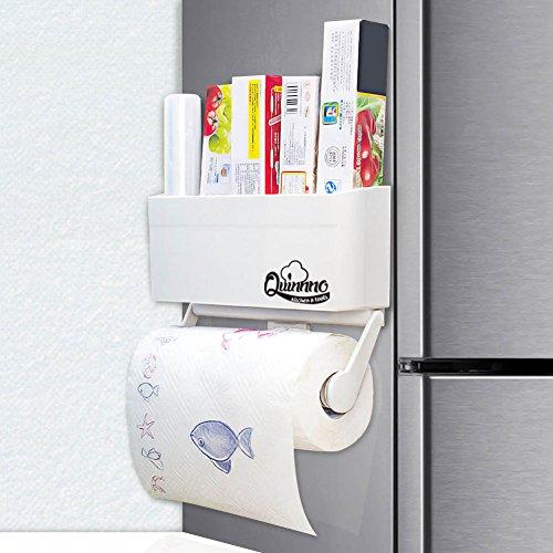 My Refrigerator Rack | Extraordinary Oven Fridge Magnetic Paper Towel Cling Film Plastic Wrap Aluminum Foil Holder, Kitchen Spice Rack Shelf Storage, Able to Hold Regular Large Giant Huge Sized Roll (Magnetic Shelf For Refrigerator compare prices)