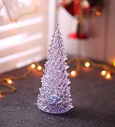 LED Multicoloured Acrylic Christmas Tree (7 Inches)