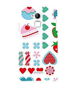 99Sublimation Modern Art Design Pattern food and Love 3D Hard Polycarbonate Designer Back Case Cover for Coolpad Note 3
