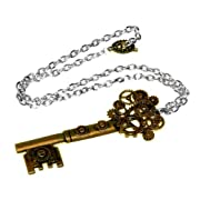 Brass Steampunk Key Pendant Necklace
