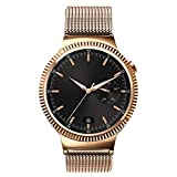 Huawei Watch Band, Jdhdl Stainless Steel Watch Band Straps for New Huawei Watch in 2015 (Hoco Magnet Steel Rose Gold)