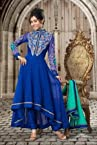 Blue Georgette & Net Salwar Kameez