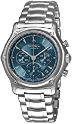 Ebel Men's 9137L40/4360 1911 Blue Chronograph Dial Watch