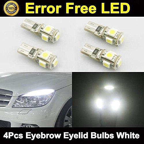 Partsam 4pcs Error Free Eyebrow Eyelid Light Led Bulbs Mercedes Benz C300 C350 C63 AMG (2002 Ford Escape Lid compare prices)