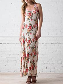 Jacquard Racerback Maxi Dress