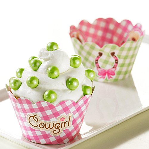 Pink Cowgirl Reversible Cupcake Wrappers (12) - 1