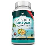 80% HCA Super Strength Garcinia Cambogia Extreme 180 Fast Acting Capsules. All Natural Appetite Suppressant and Weight Loss Supplement By Hamilton Healthcare up to 4500mg Per Day for Maximum Results