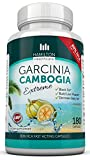 80% HCA Super Strength Garcinia Cambogia Extreme With No Calcium 180 Fast Acting Capsules. All Natural Appetite Suppressant and Weight Loss Supplement By Hamilton Healthcare up to 4500mg Per Day for Maximum Results