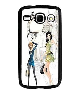 Fuson Shopping Girl Back Case Cover for SAMSUNG GALAXY COREi 8262 - D3678