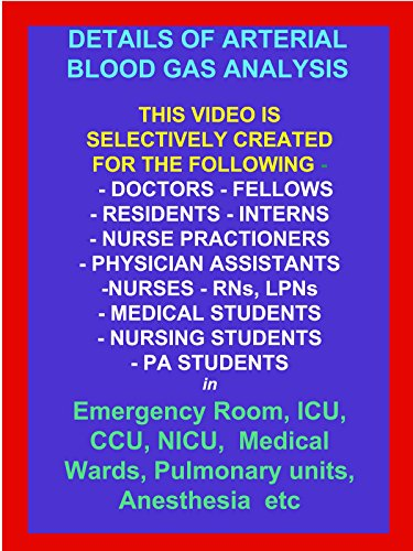 Details of ABG (Arterial Blood Gas) Analysis video with Public Performance Rights