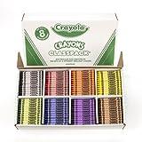 Crayola 800CT Regular Size Crayons 8 Colors Classpack