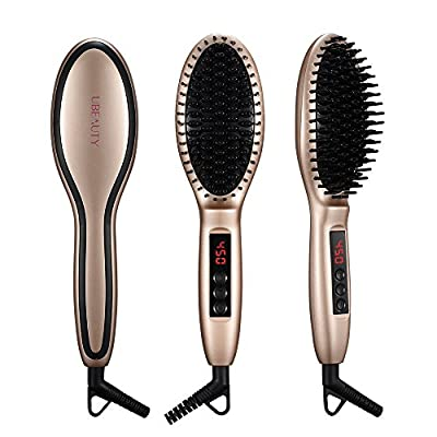 UBeauty Hair Straightener Brush,Thermo Hair Straightening with Anion Hair Care,Anti Scald,Auto-Lock