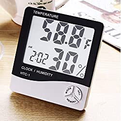 Multifunction LCD Screen Digital Alarm Clock Thermometer Temperature time Humidity Hygrometer Meter Hygrothermograph