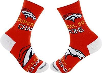 Denver Broncos 2015 Super Bowl 50 Champions Socks (Large)