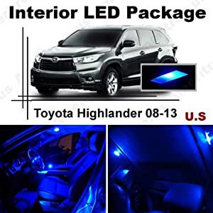 ameritree blue led lights interior package blue led license plate kit for toyota. Black Bedroom Furniture Sets. Home Design Ideas