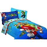Nintendo Super Mario Fresh Look Sheet Set, Twin