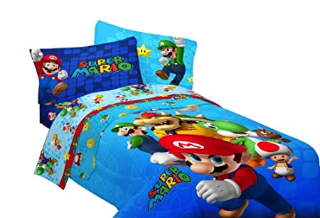 Nintendo Super Mario Fresh Look Sheet Set Twin  sc 1 st  Kidsu0027 Home Store Product Review & Nintendo Super Mario Action on The Tracks Bed Tent | Kidsu0027 Home ...