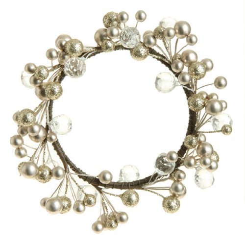 RAZ Imports - Pearl & Crystal Candle Ring / Ornament (Crystal Candle Ring compare prices)