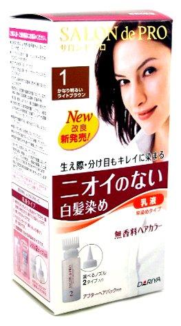 サロンドプロ 無香料ヘアカラー早染め乳液 1
