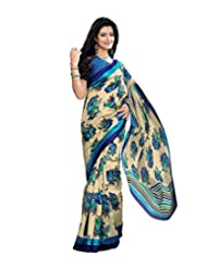 Anu Designer Self Print Saree (6410B_Multi-Coloured)