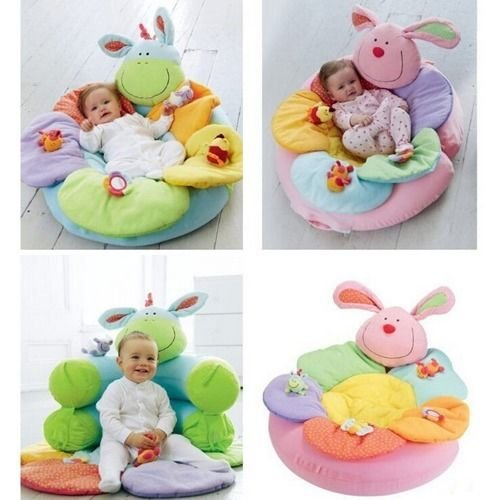 Lovely Kids Baby Inflatable Seat Game Pad Sleeping Blanket 0-2 Year Old Toys Play Mat (Pink) front-857924
