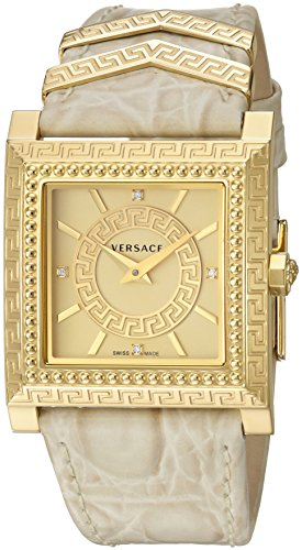 Versace-Womens-VQF030015-DV-25-Analog-Display-Swiss-Quartz-Beige-Watch