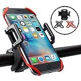 Ubegood 自転車ホルダー バイクスタンド スマートフォンホルダー GPSナビ・スマホ・iPhone固定用マウントキット 携帯ブラケット 360度回転 脱落防止 二重保護 iPhone6s plusまで対応